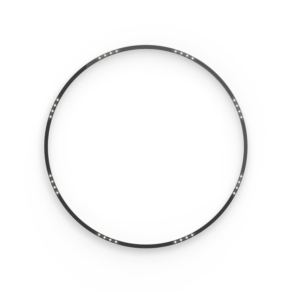 A.24 Stand-alone - Ceiling Circular - Sharping Emission - Ø 1500mm - 3000K - DALI - Brushed Silver