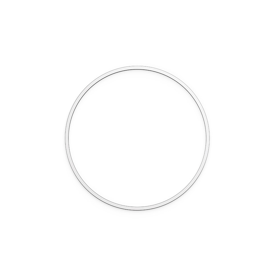 A.24 Stand-alone - Ceiling Circular - Diffused Emission - Ø 1122mm - 2700K - App Compatible - Brushed Silver