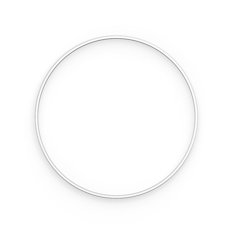 A.24 Stand-alone - Ceiling Circular - Diffused Emission - Ø 1500mm - 2700K - App Compatible - Brushed Silver