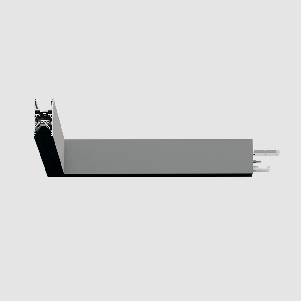 A.24 - Wall/Ceiling Diffused Emission - 90° Angle (same plane) - Direct Emission - 2700K - Brushed Silver