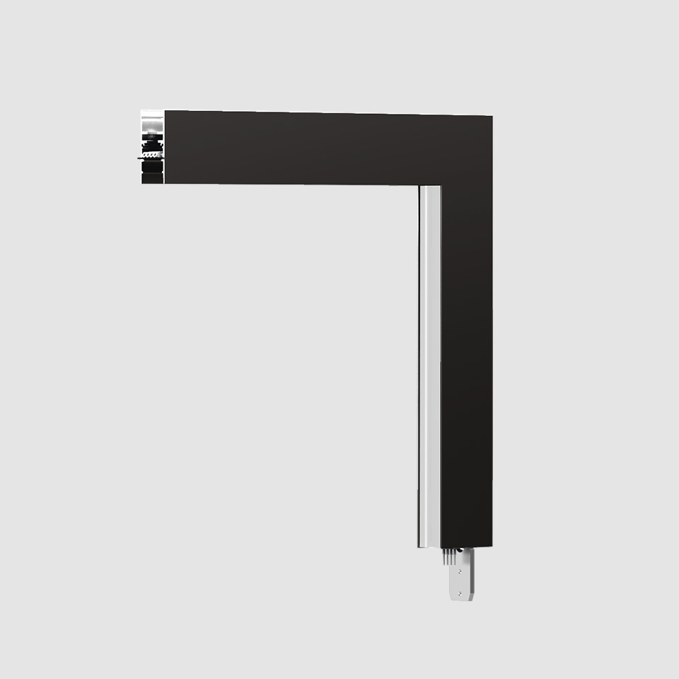 A.24 - Wall/Ceiling Diffused Emission - 90° Angle (perpendicular planes) - Direct Emission - 2700K - Black