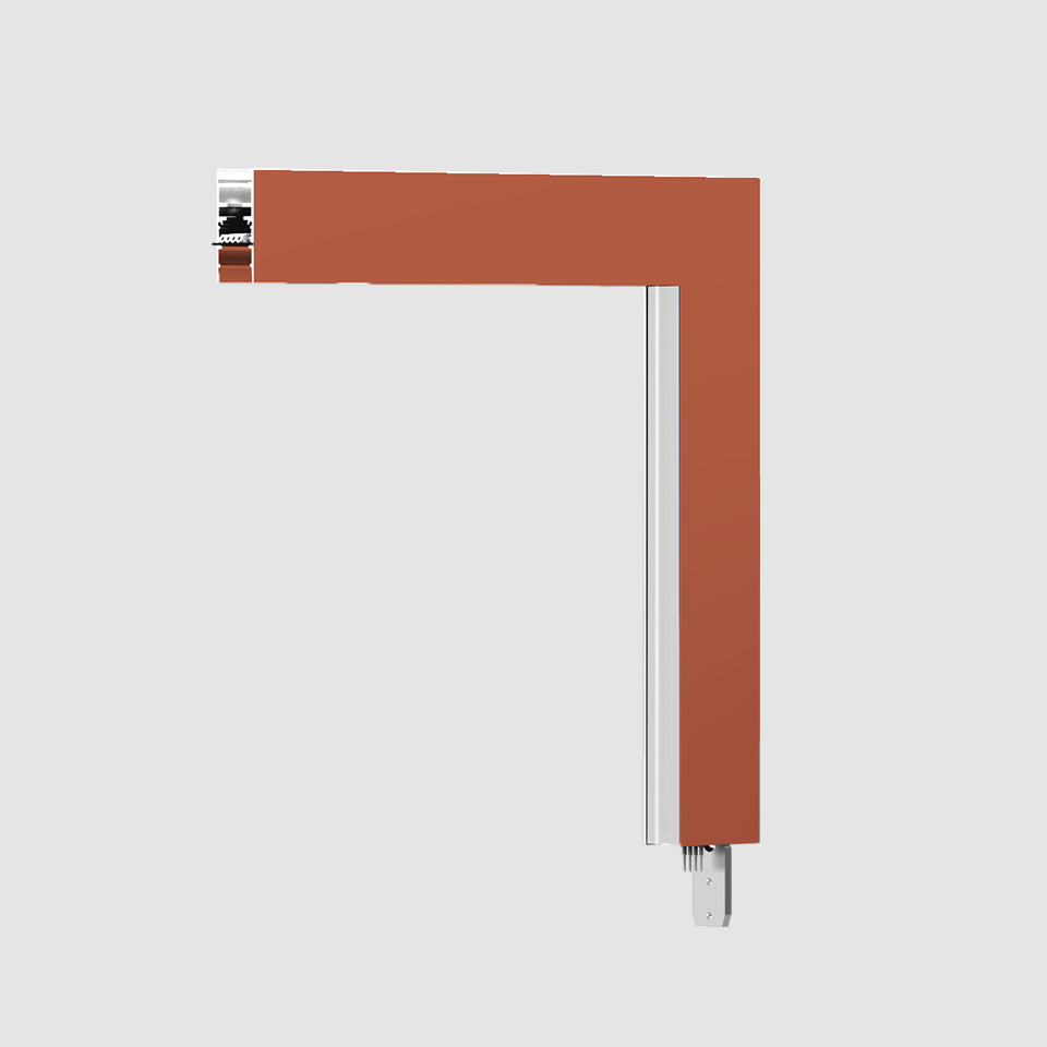 A.24 - Wall/Ceiling Diffused Emission - 90° Angle (perpendicular planes) - Direct Emission - 3000K - Brushed Copper