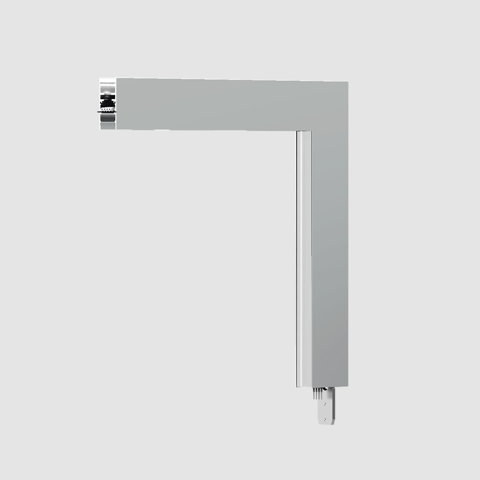 A.24 - Wall/Ceiling Diffused Emission - 90° Angle (perpendicular planes) - Direct Emission - 4000K - Brushed Silver