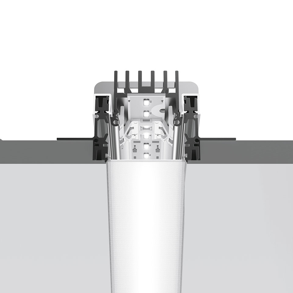 A.39 Recessed - Structural Module Trimless 1482mm 4000K Undimmable