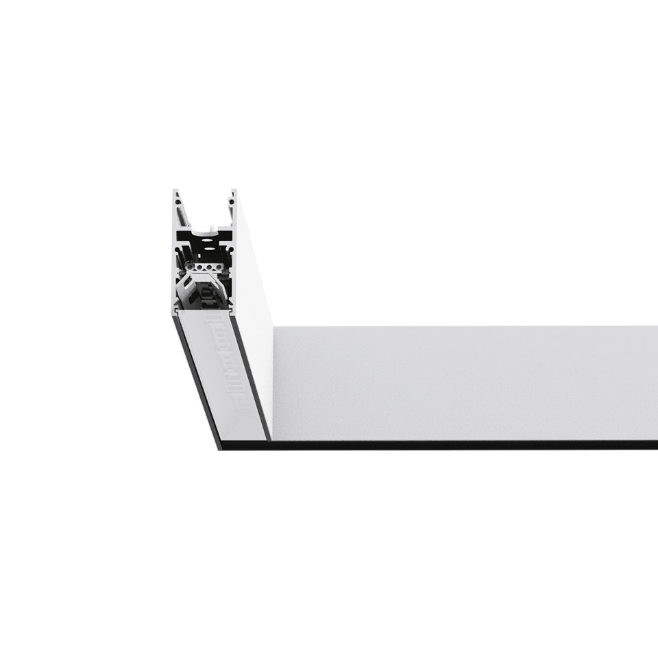 A.39 Recessed - 90° Corner Trim 3000K Undimmable Silver