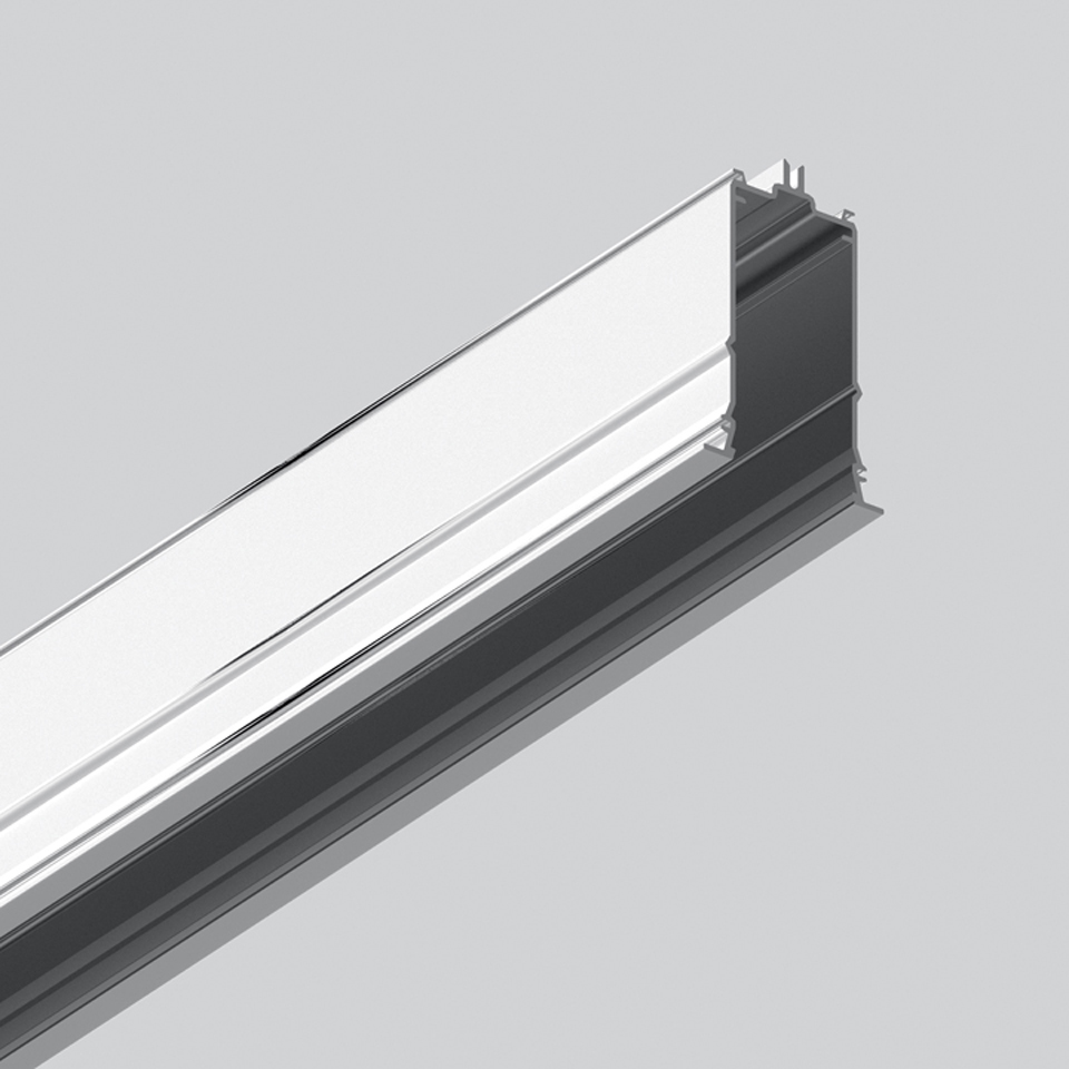Algoritmo Controlled - Prismoptic Emission - Structural module recessed - Trim 1184mm Silver