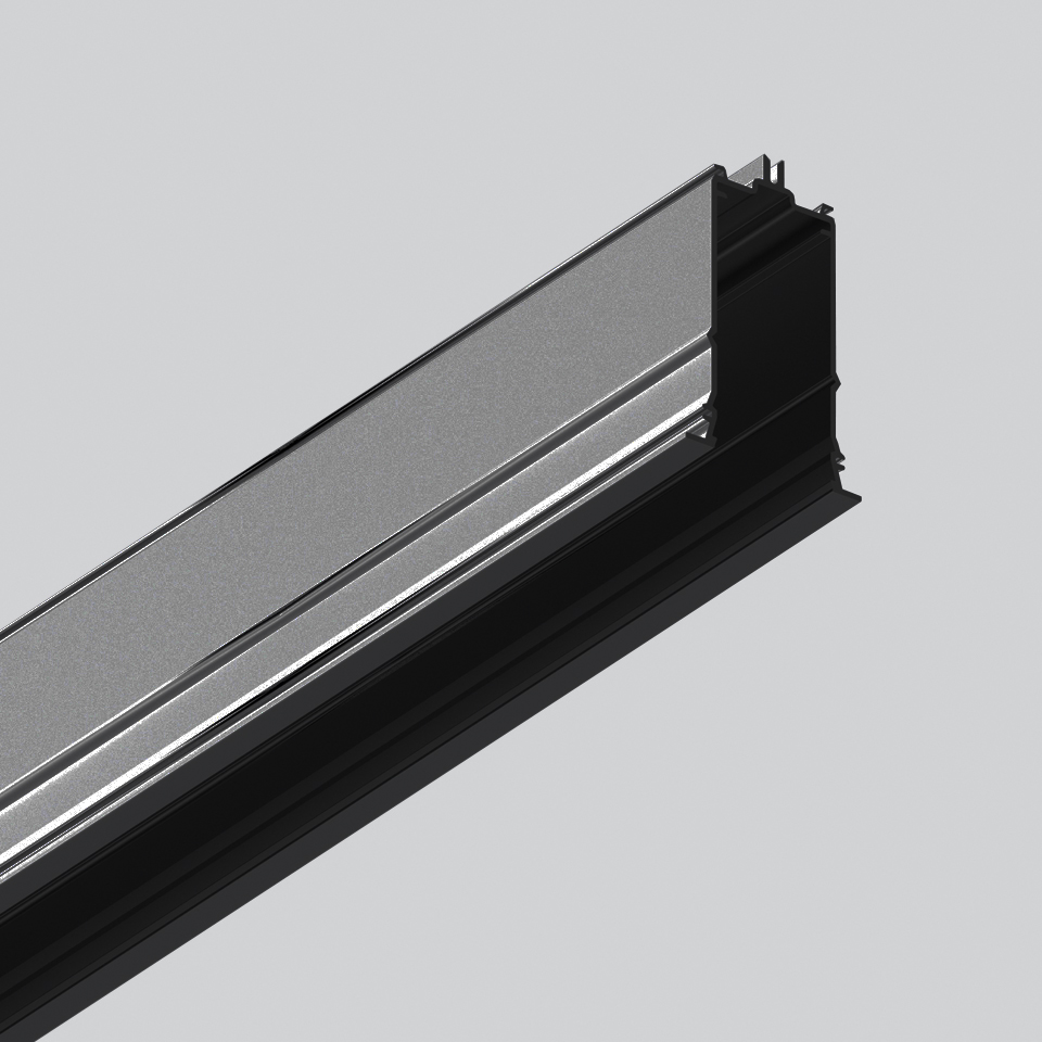 Algoritmo Controlled - Prismoptic Emission - Structural module recessed - Trim 1184mm Black