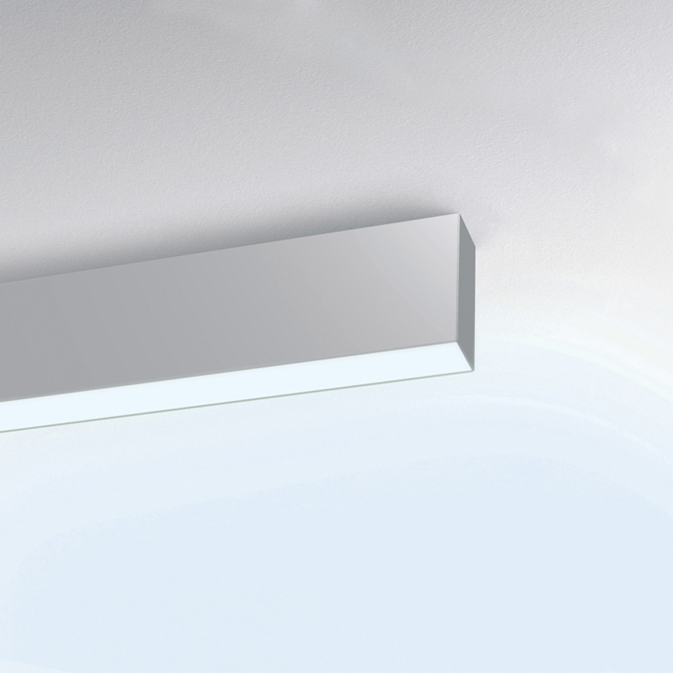 Algoritmo Stand-Alone - Wall/ceiling - white LED diffused emission - 68W 3000K Non dimmable - White