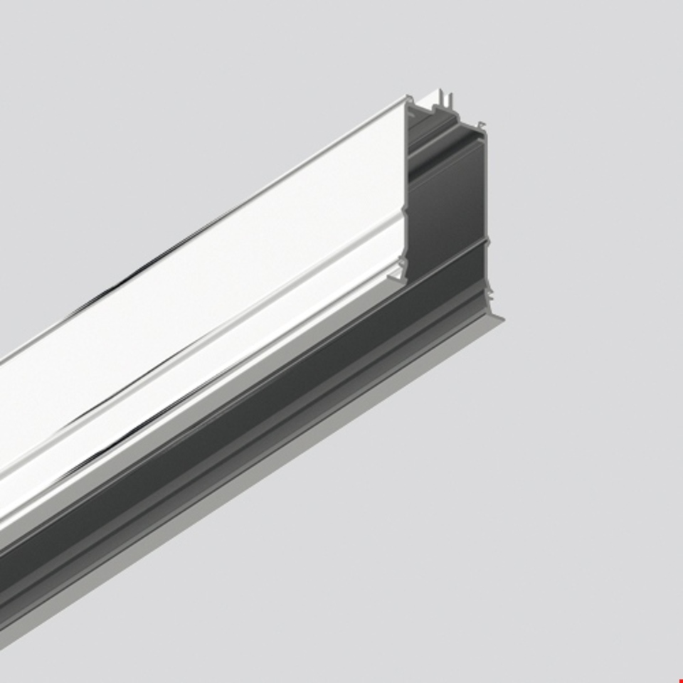 Algoritmo System - Diffused Emission - Structural module recessed - Trim 1184mm Silver