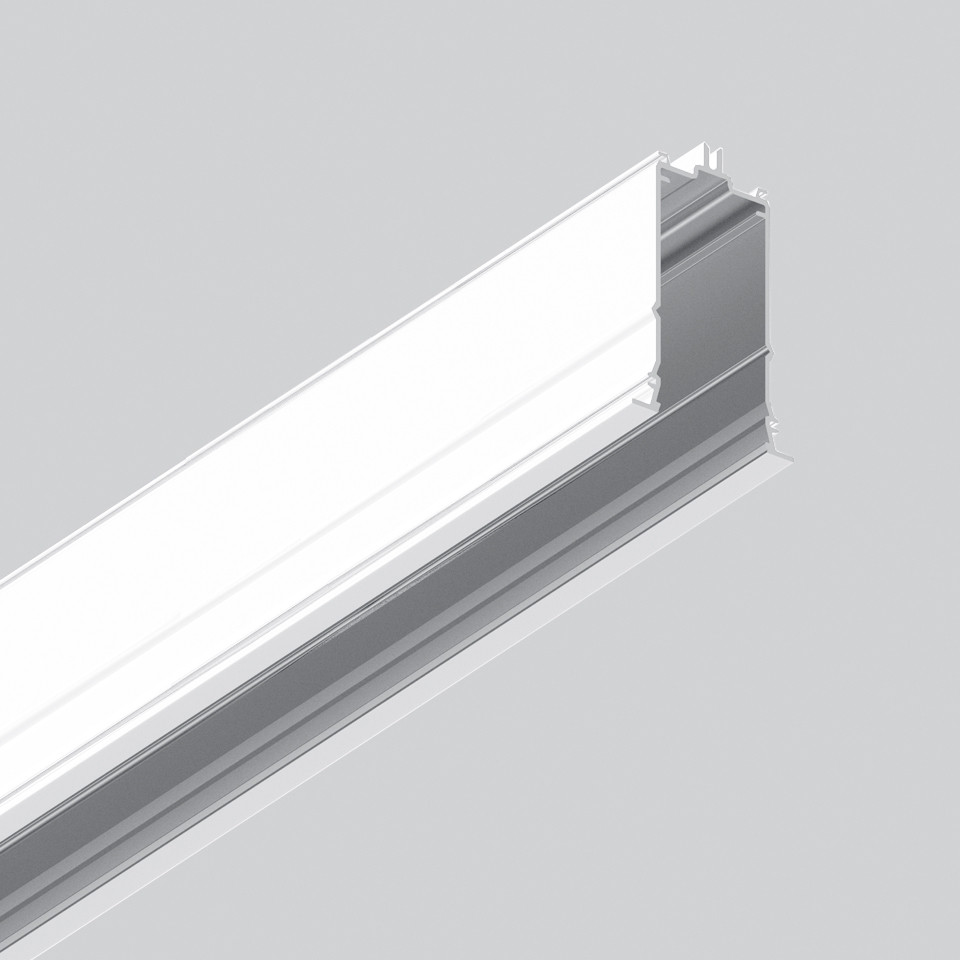 Algoritmo System - Diffused Emission - Structural module recessed - Trim 2368mm White