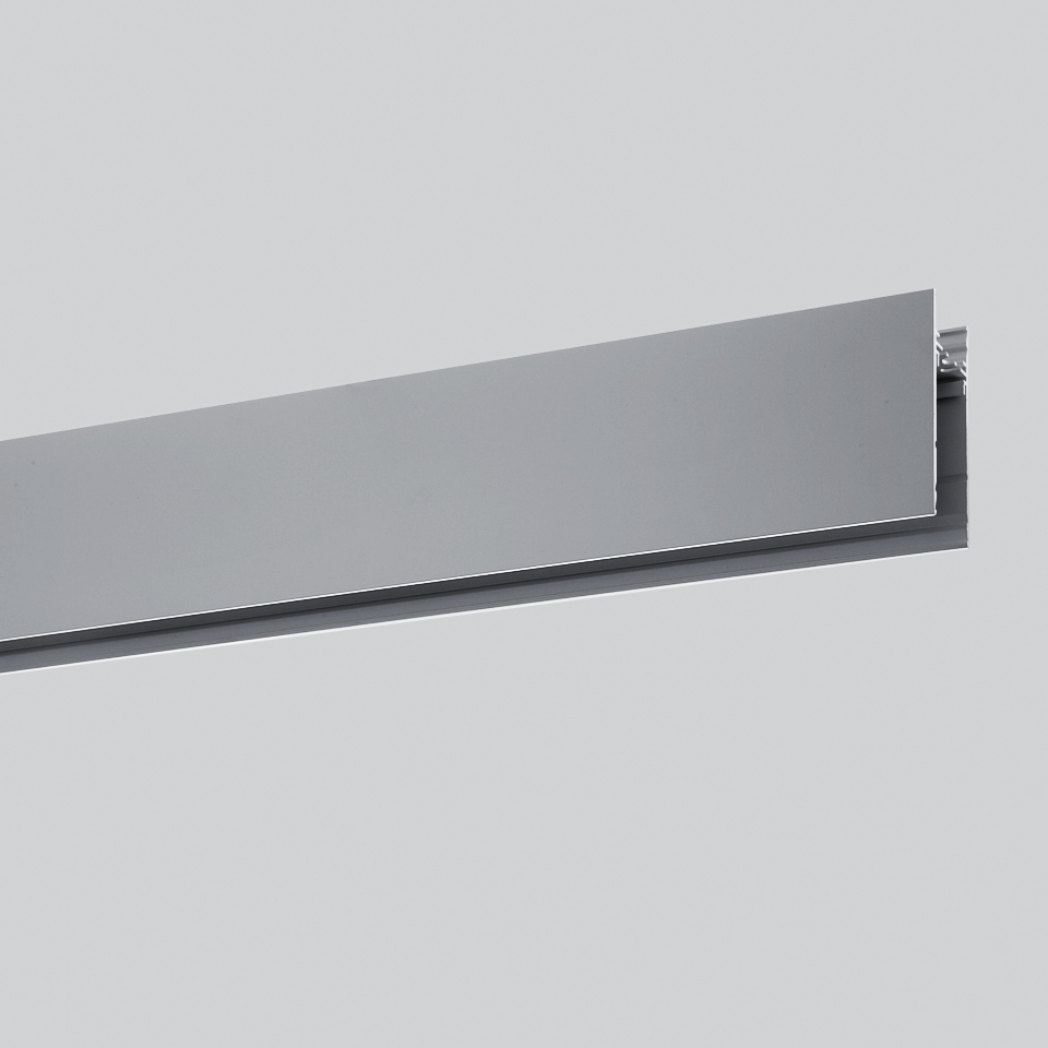 Algoritmo System - Diffused Emission - Structural modules suspension, ceiling, wall - 4736mm Gloss anodized