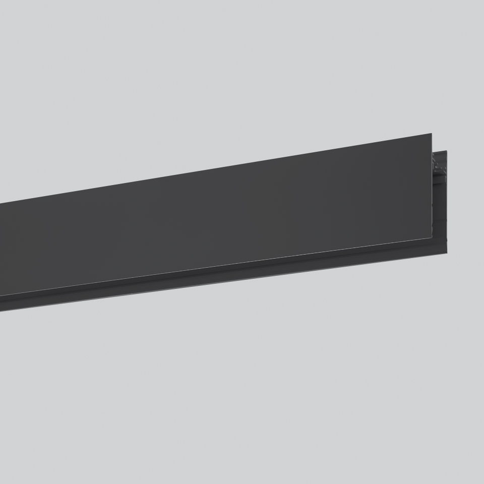 Algoritmo System - Diffused Emission - Structural modules suspension, ceiling, wall - 2368mm Black