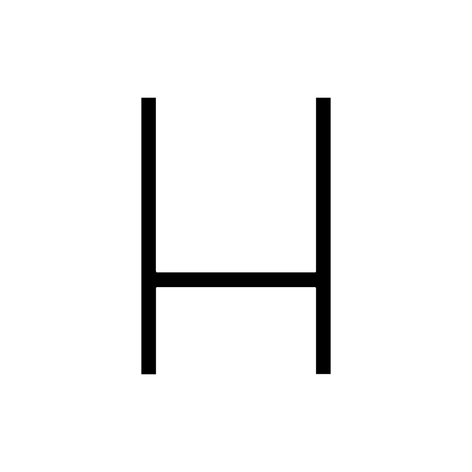 Alphabet of Light - Uppercase - Letter H