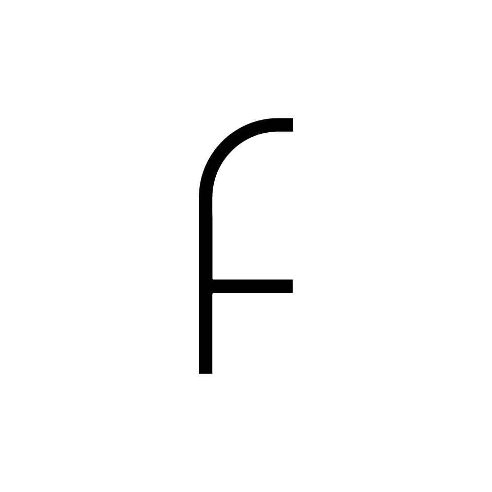 Alphabet of Light - Lowercase - Letter f