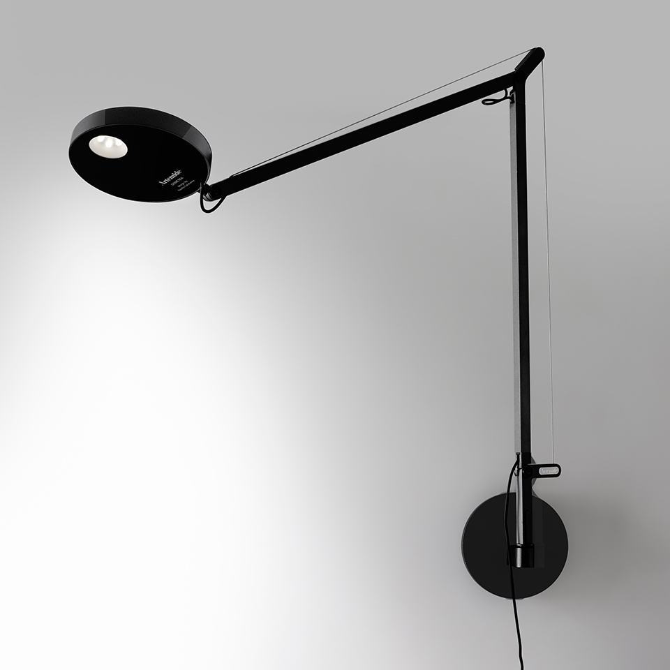 Demetra Wall - Movement Detector - 3000K - Body Lamp - Opaque Black