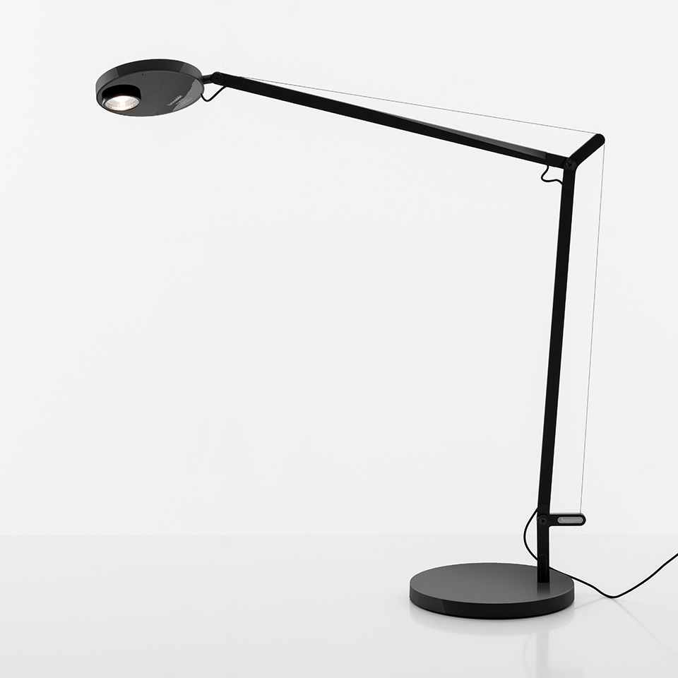 Demetra Professional Table - Movement Detector - 3000K - Body Lamp - Opaque Black