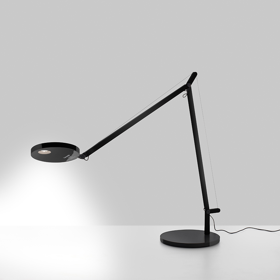 Demetra Table - Movement Detector - 3000K - Body Lamp - Opaque Black