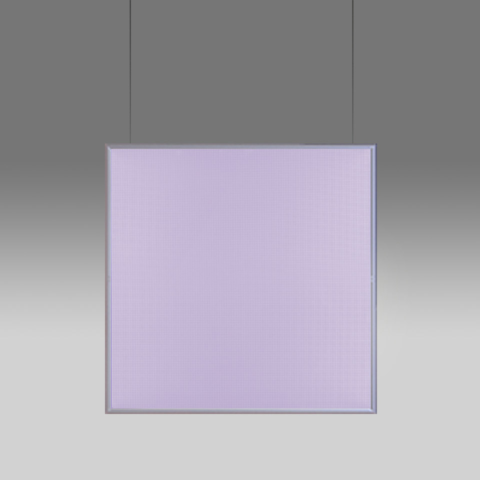 Discovery Space Square - White Violet Integralis - Satinized aluminium - App Compatible