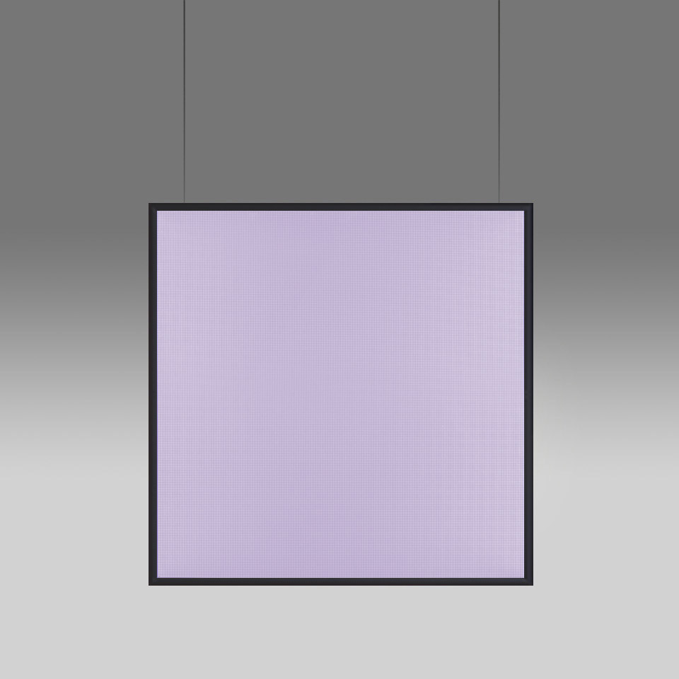 Discovery Space Square - White Violet Integralis - Black - App Compatible