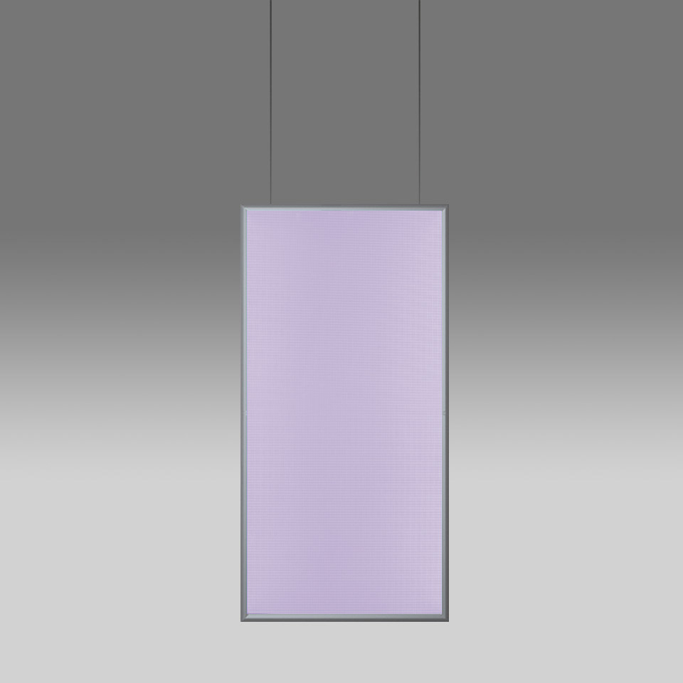 Discovery Space Rectangular - White Violet Integralis - Satinized aluminium - App Compatible