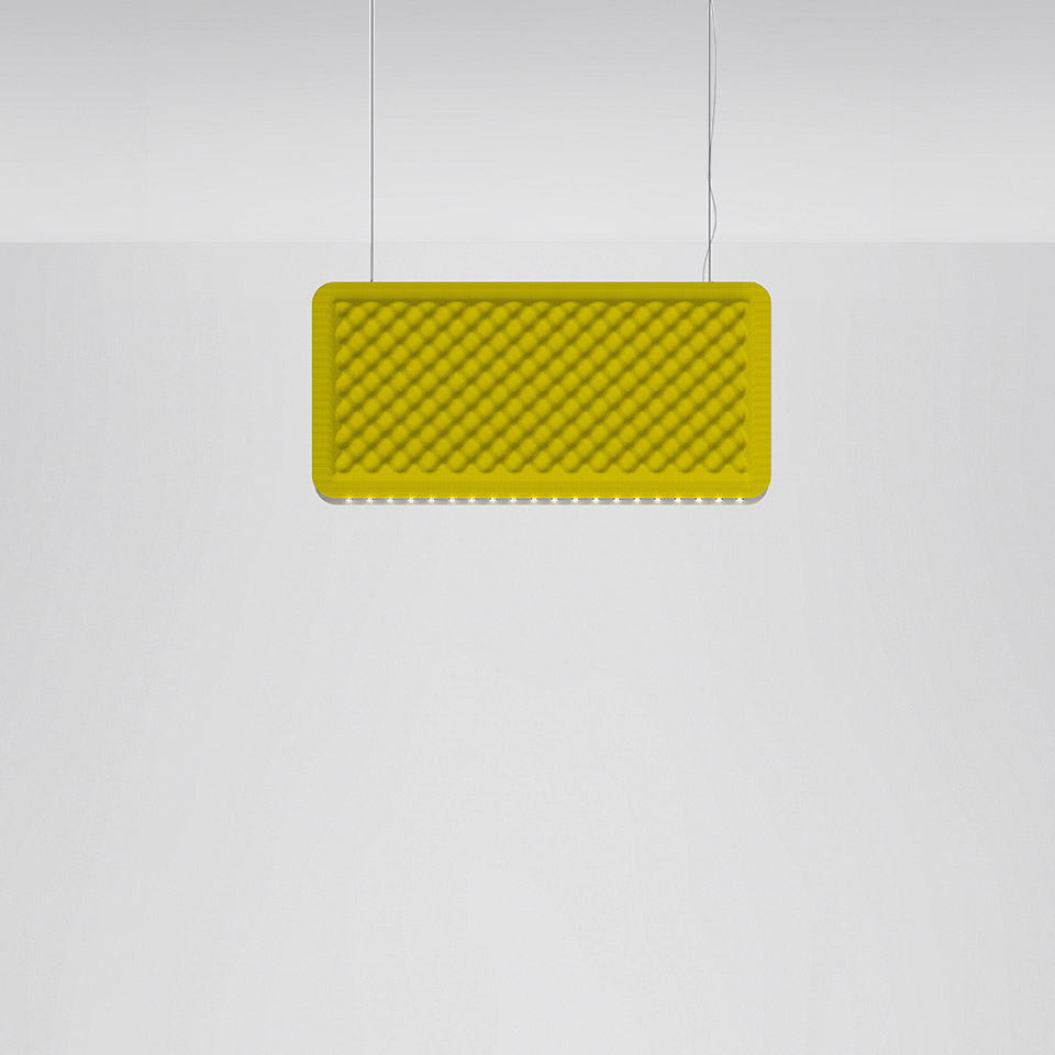 Eggboard Baffle - 800x400 - Suspension - Direct Sharp + Indirect Diffused - 3000K - Dimmable DALI - Green