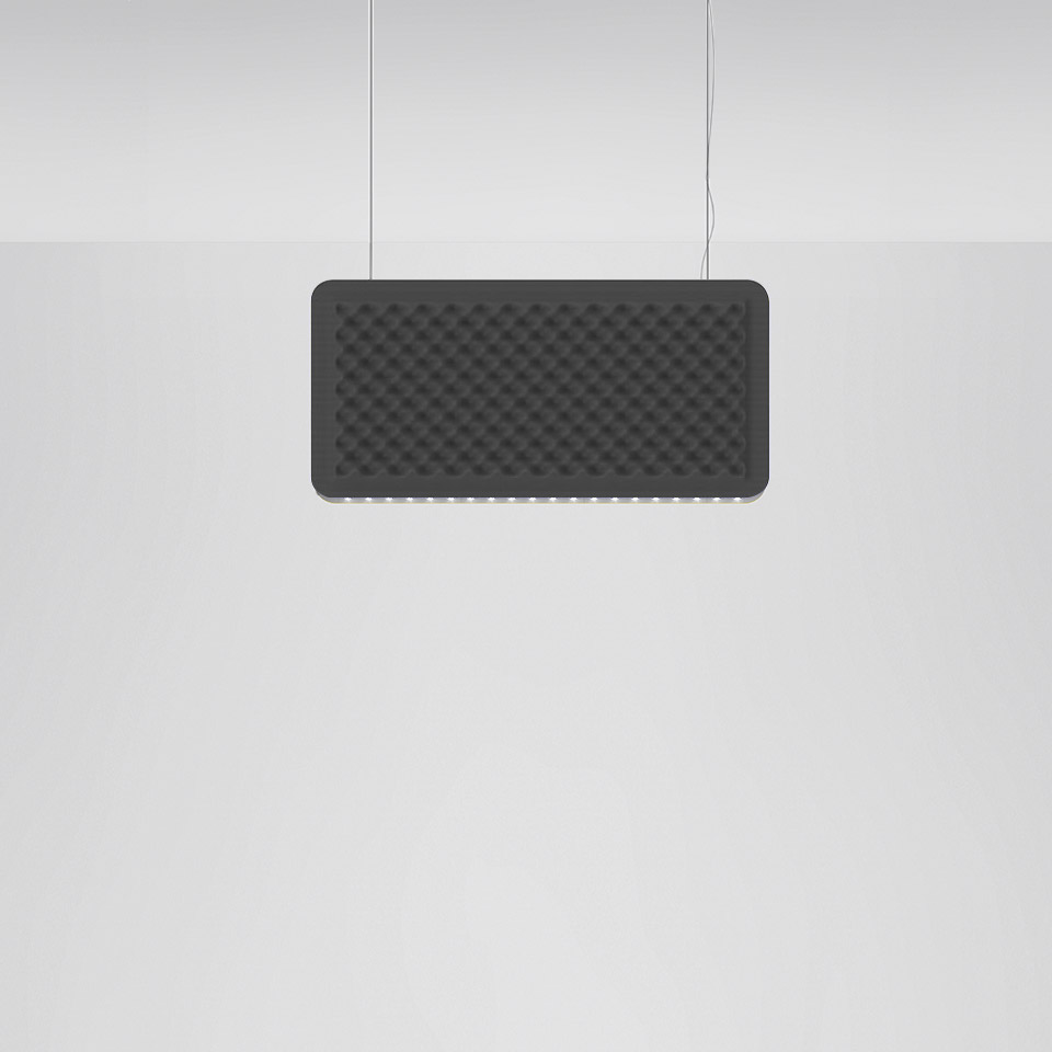 Eggboard Baffle - 800x400 - Suspension - Direct Sharp + Indirect Diffused - 4000K - Dimmable DALI - Grey