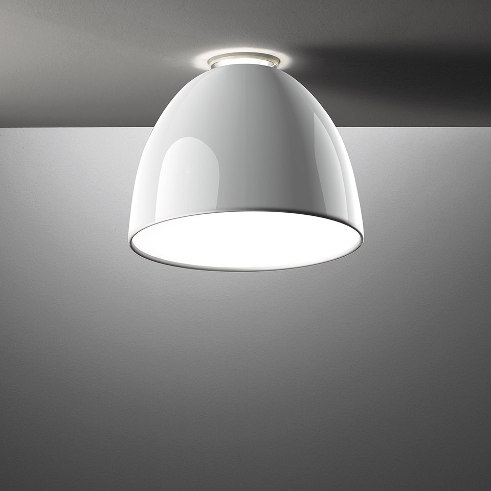 Nur Mini Gloss LED - Ceiling - White