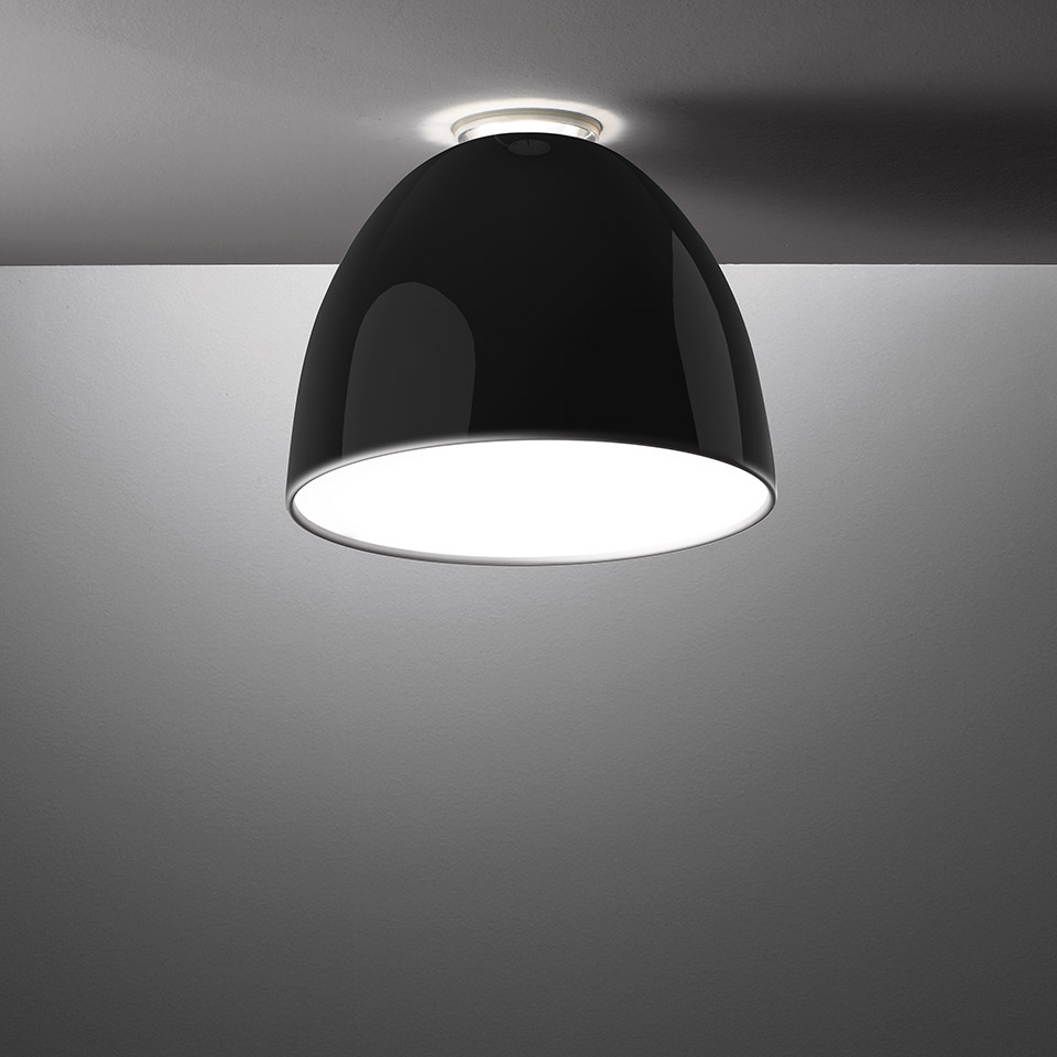 Nur Mini Gloss LED - Ceiling - Black