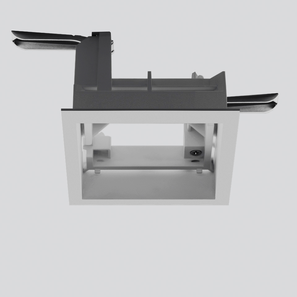 Frame for recessed installation for 1 optic unit - Trim - 103x103 - Gris