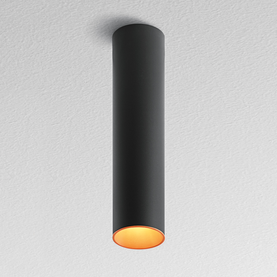 Tagora Soffitto 80 - Led 52° 3000K - Nero/Arancione -  Dimmerabile Dali