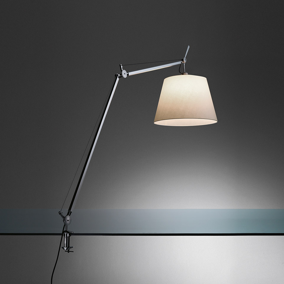 Tolomeo Mega Table LED 3000K Black with dimmer on head - Body Lamp