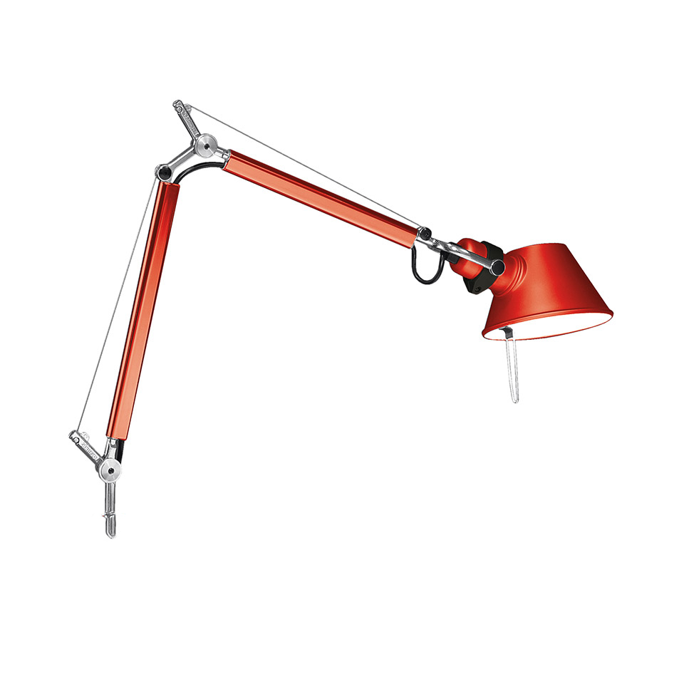 Tolomeo Micro Table - Anodized red - Body Lamp