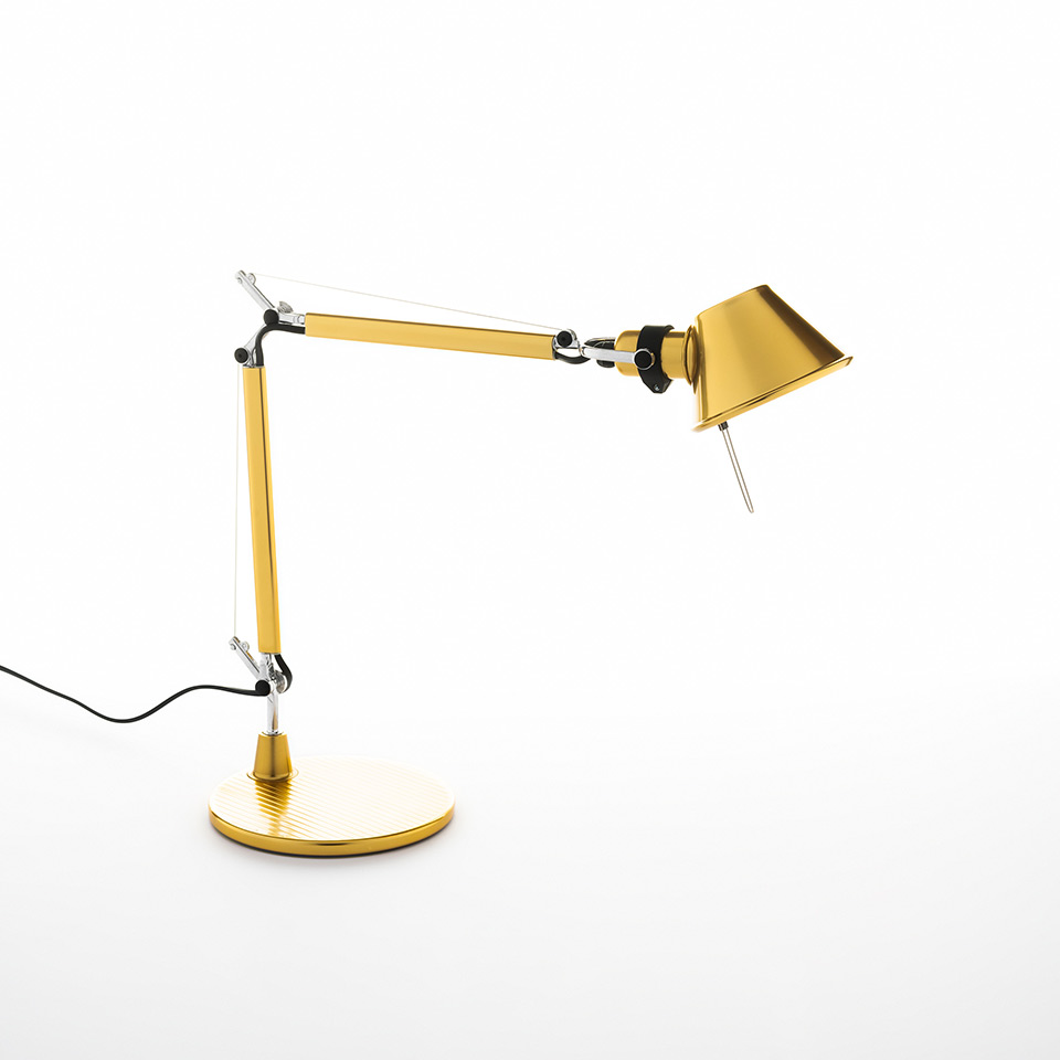 Tolomeo Micro Gold - Body Lamp + Base