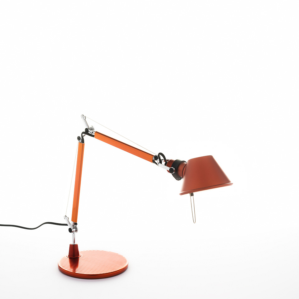 Tolomeo Micro Table - Anodized orange - Body Lamp + Base