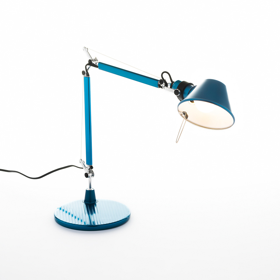 Tolomeo Micro Table - Anodized blue - Body Lamp + Base