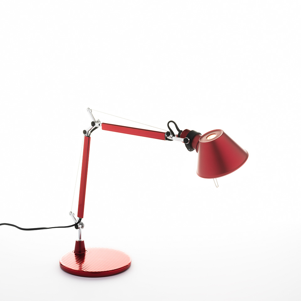 Tolomeo Micro Table - Anodized red - Body Lamp + Base