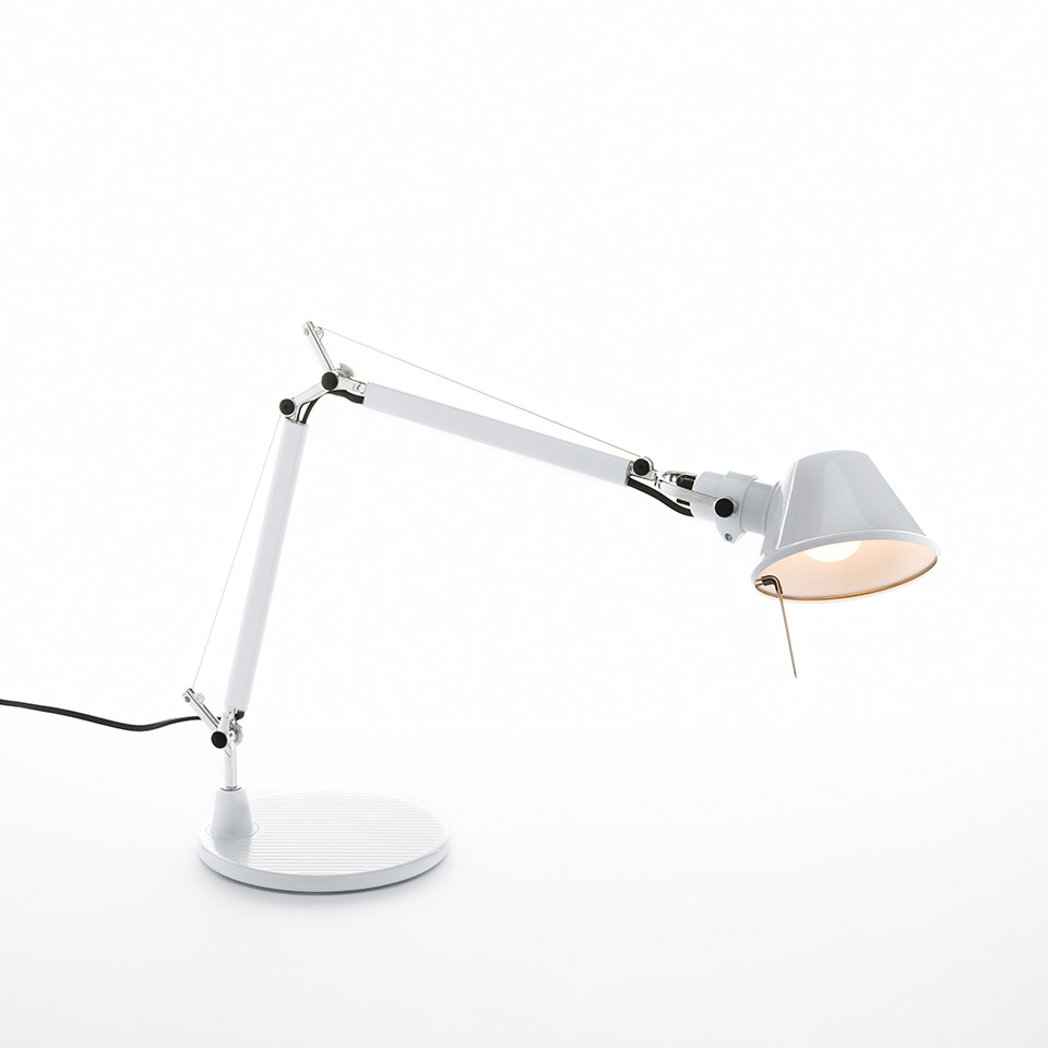 Tolomeo Micro Table - Glossy white - Body Lamp + Base