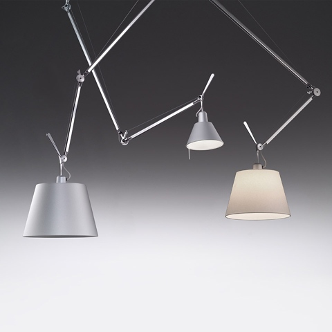 artemide tolomeo basculante suspension 2 bracci. Black Bedroom Furniture Sets. Home Design Ideas